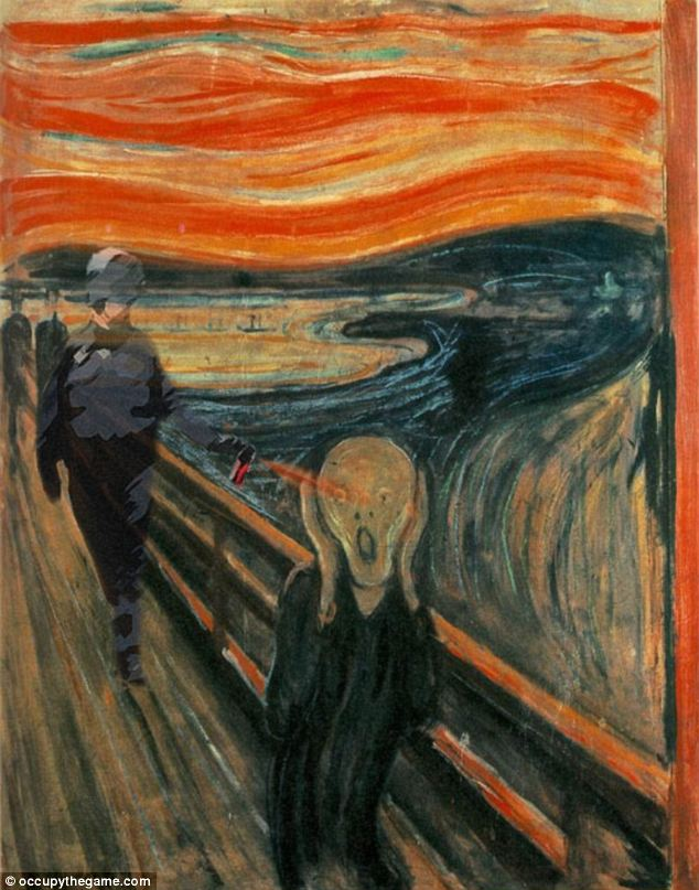 Cause for a Scream: Lt Pike makes a cameo in Edvard Munch's famous painting