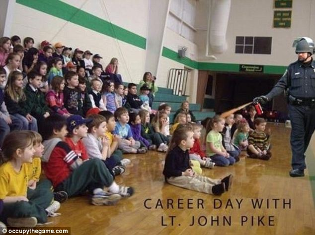 Teaching a valuable lesson: One jokester makes a meme that has Lt Pike at a fictional career day with young children