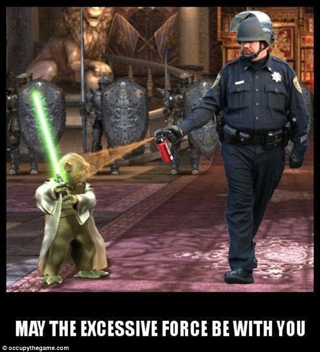 The force: Many have called into question the matter of police brutality at peaceful protests in wake of Pike's actions