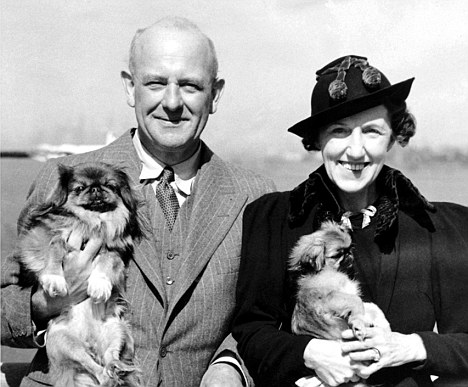 'An angel in human form': Wodehouse with his wife Ethel in the 1940s