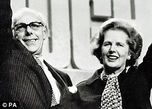 Denis and Margaret Thatcher at the Conservative Party Conference in Brighton