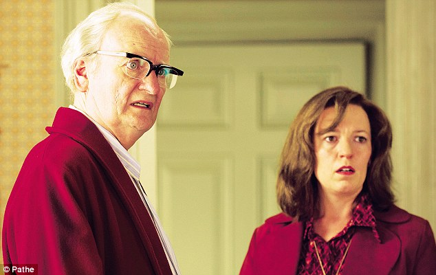 Jim Broadbent as Denis Thatcher with Olivia Colman as Carol Thatcher at the family home