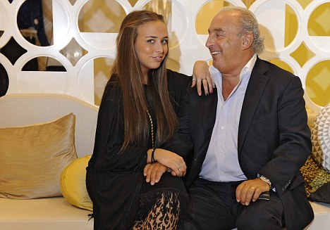 Family fashion: Sir Philip Green with daughter Chloe