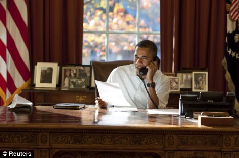 Morning mission: The President made 10 personal phone calls this morning to members of the armed services and thanked them in his speech