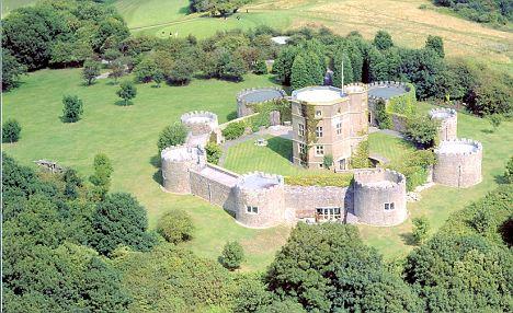 Luxurious: Walton Castle is worth around £3million