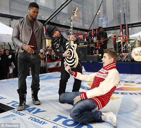 Duet: Bieber was joined by his mentor Usher on stage