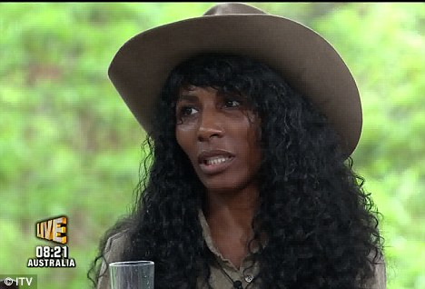 Opening up: Sinitta was happy to talk to Ant and Dec after she was booted from the jungle