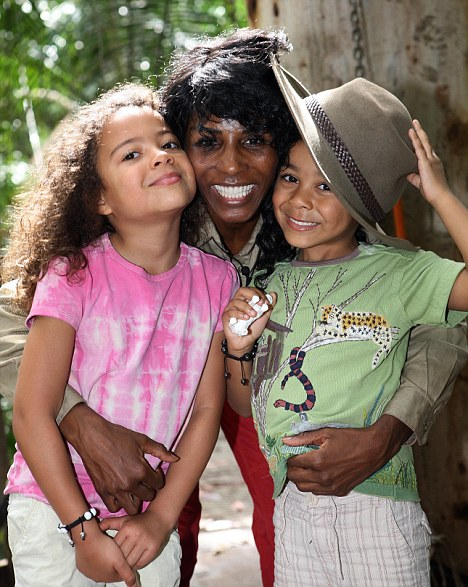Reunited: Sinitta was delighted to be reunited with her children, Zac and Magdalena