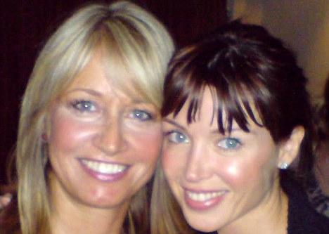 Satisfied: Beauty therapist Deborah Mitchell, left, who often treats Dannii Minogue