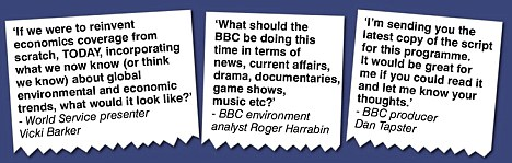 Leaked: Some of the emails written by BBC staff