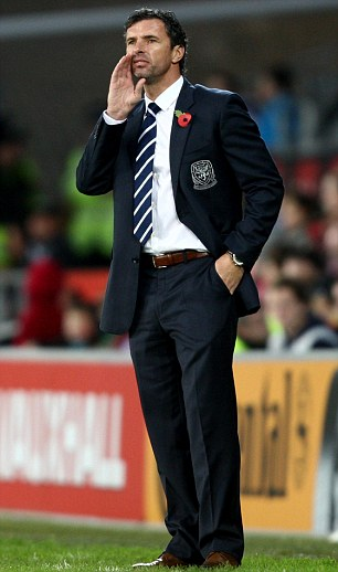 On the touchline: Former Wales manager Gary Speed