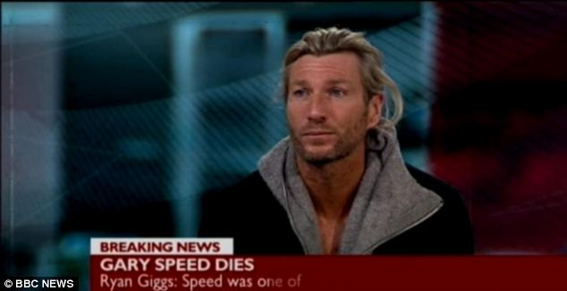 Former Wales teammate Robbie Savage speaking about the death of Gary Speed on BBC News