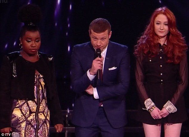 Luck of the Irish ran out: Janet Devlin was sent home tonight after singing for survival against Misha B
