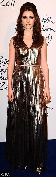 Fashion's hottest young stars: Georgia May Jagger, Amber Le Bon and Tali Lennox shone at the awards