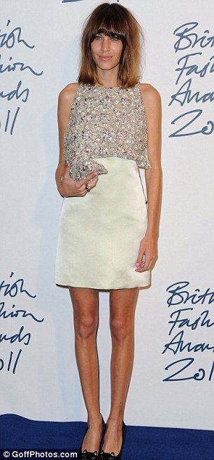 Trend setters: Olivia Palermo and Alexa Chung wore typically eye-catching outfits at The Savoy