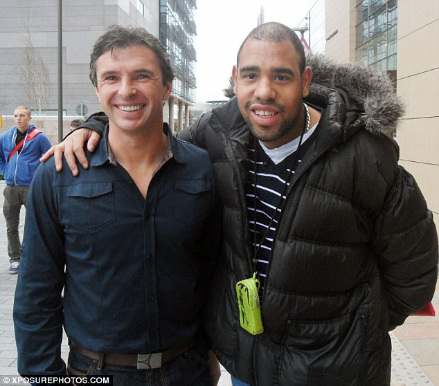 The final picture: Gary Speed poses with a fan at the BBC studios in Salford as he recorded Match of the Day. Hours later he was found dead