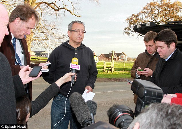 Gary Speed's former agent and best man Hayden Evans addressed the press outside Speed's home in Chester. He asked that the family be left alone to grieve for their loss