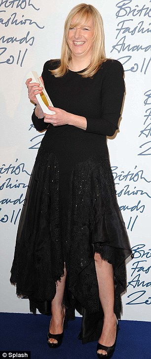 Fashion royalty: Alexander McQueen and Royal Wedding dress designer Sarah Buton was honoured with Designer of the Year, while Daphne Guinness was in a typically bizarre ensemble