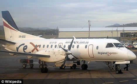 Flames on a plane: The phone ignited on Regional Express Airlines