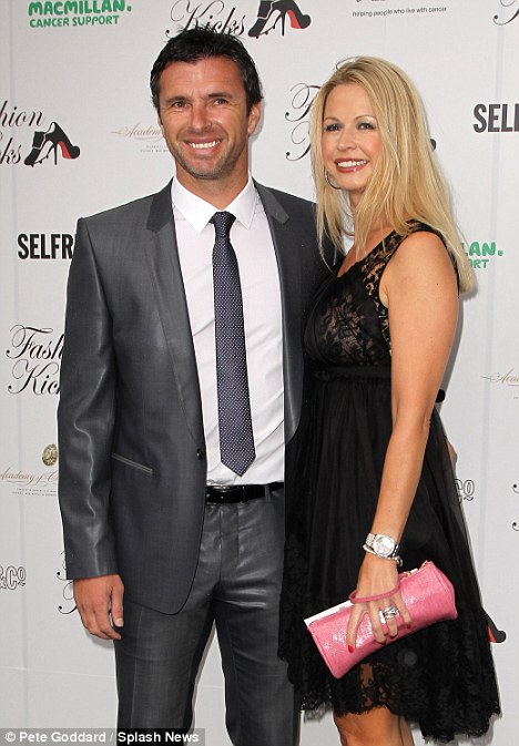 Tragic: Gary Speed with his wife Louise, who is thought to have found his body