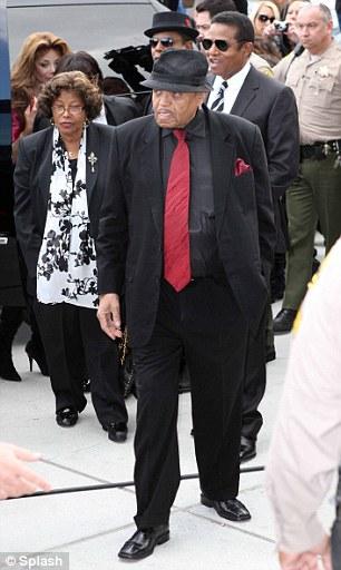 The Jackson family including Tito Jackson, Joe Jackson, Jermaine Jackson, Katherine Jackson and Latoya Jackson arrive at court on August 2
