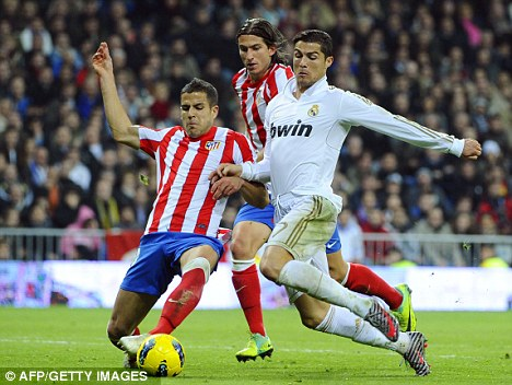 The old Lucas Ocampos: The Argentine has drawn comparisons with Cristiano Ronaldo (right)