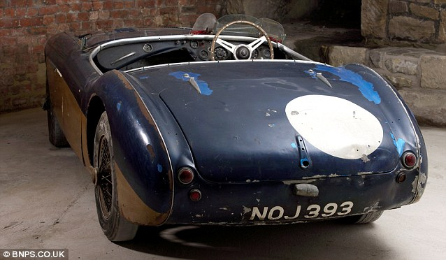 Despite its macabre past and rusty state, motor sport enthusiasts are said to be willing to pay huge sums for it as it is a 'crucially historic landmark car'