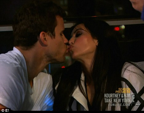 Kiss of death: The unravelling of the couple's 'fairytale' relationship is playing out on new reality show, Kourtney & Kim Take New York