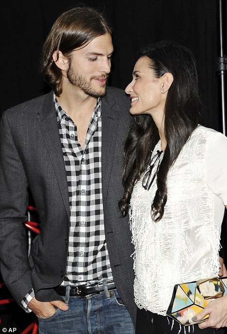 Over: On November 17, Demi announced that she was filing for divorce from toyboy husband Kutcher after six years of marriage