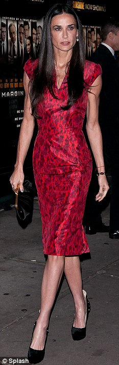 Stepping out: Demi Moore has slowly been emerging since the split