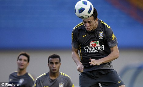 Heading off: Brazil's Leandro Damiao looks set to join Juventus