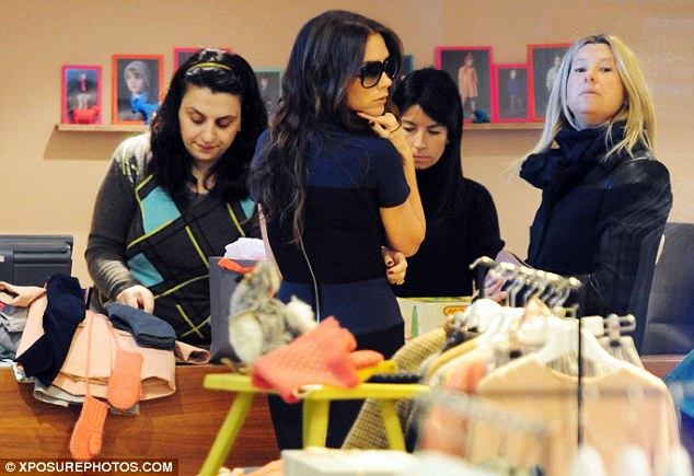 That comes to how much? Among the items Victoria appeared to have purchased for Harper were a £45 pair of Chinchilla Mitts gloves and a £150 Terapin baby coat