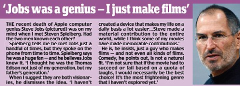 Had Stephen Spielberg and Apple computer genius Steve Jobs known each other?