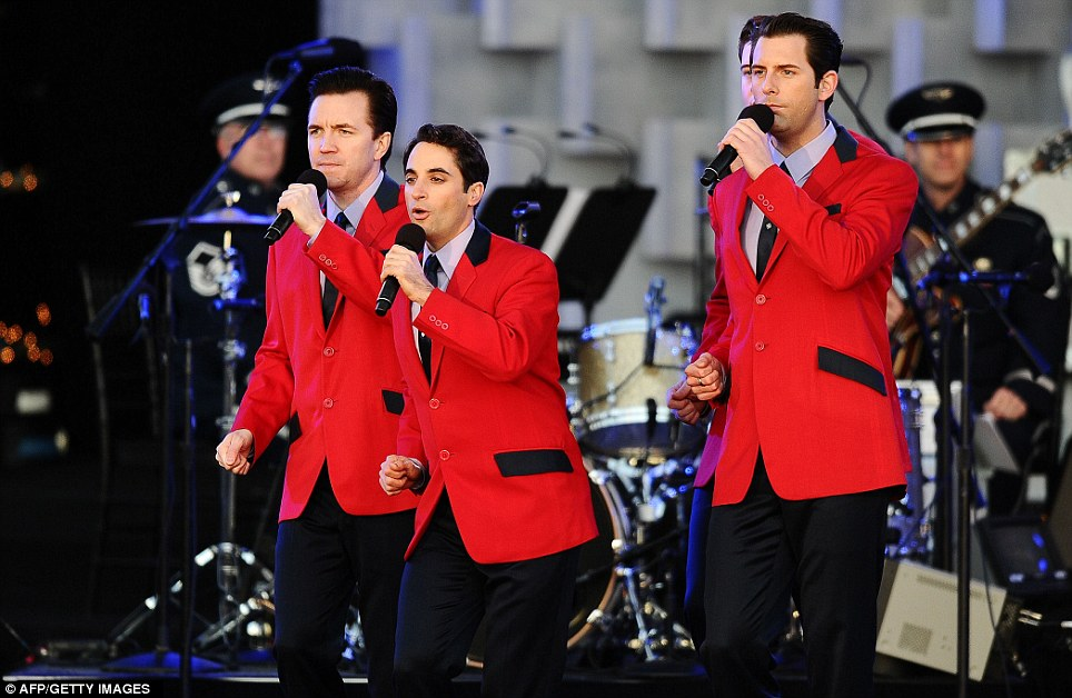 Entertainment: Jersey Boys perform during the 2011 National Christmas Tree Lighting Ceremony