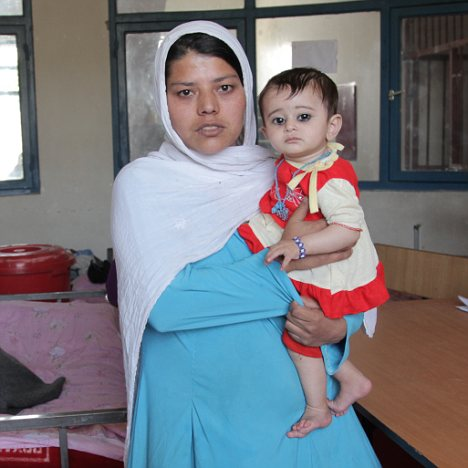 Rape victim: Gulnaz, who was pardoned by the Afghan president earlier this month, with her daughter in a Kabul jail. She was today released