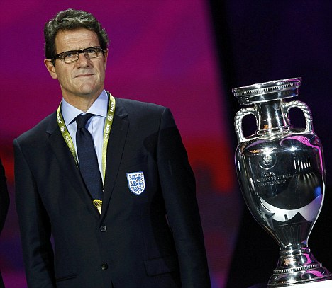 Eyes on the prize: Fabio Capello will hope to lead England to glory in 2012