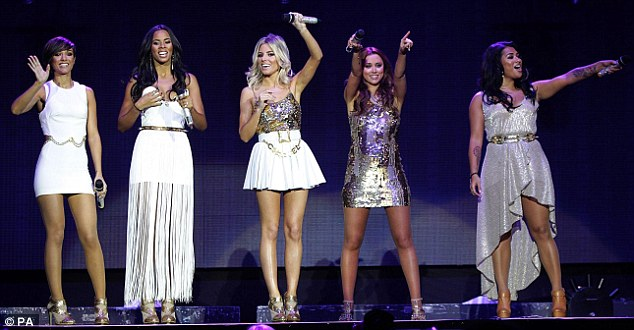 Busy: The girl group travelled down from Liverpool on Sunday specially for their performance at the Jingle Bell Ball