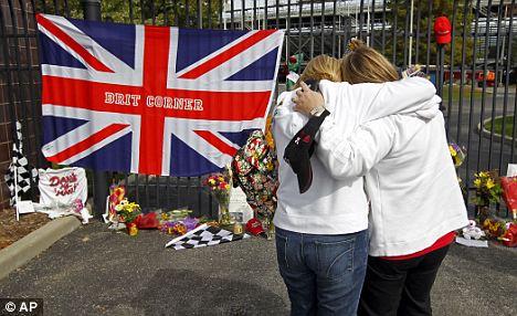 Grief: Wheldon's death has devastated Indy fans