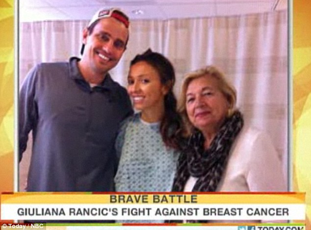 Conquering the disease: The Today show featured snapshots of Giuliana's stay in hospital