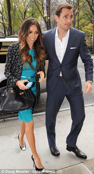 Loving couple: After appearing on The Today Show Giuliana and Bill Rancic were seen returning to their Manhattan hotel