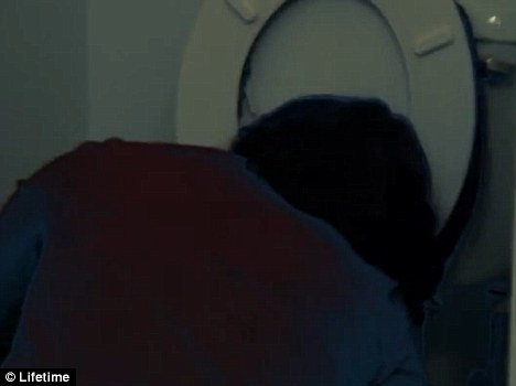 Purging: Melissa, a bulimic, is shown vomiting - a move that has particularly upset therapists who told producers they clients to be shown purging