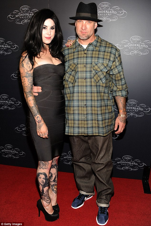 Scarred for life: girlfriend Kat Von D had a tattoo of the young Jesse James inked onto her torso before learning that he had cheated on her too