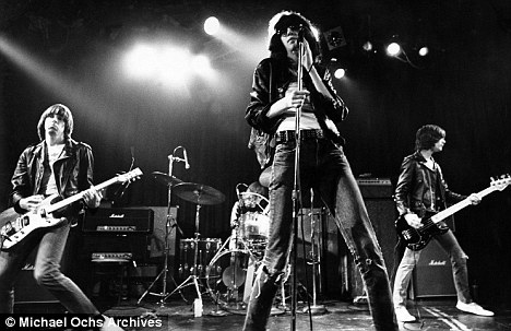 Leading the way: Punk rock band the Ramones during a concert in the 1970s