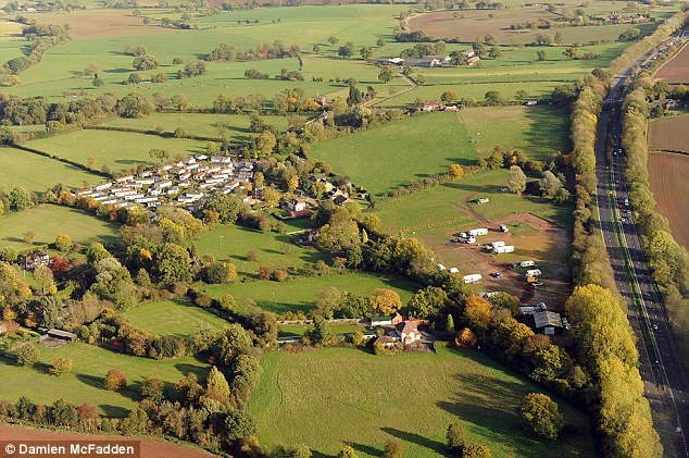 The travellers moved into the site last spring and have angered locals with their refusal to move