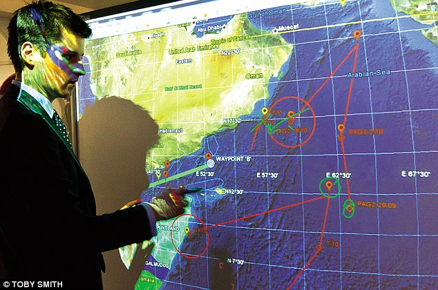 Maritime-security analyst Tim Hart monitoring pirate activity in the waters around the Horn of Africa