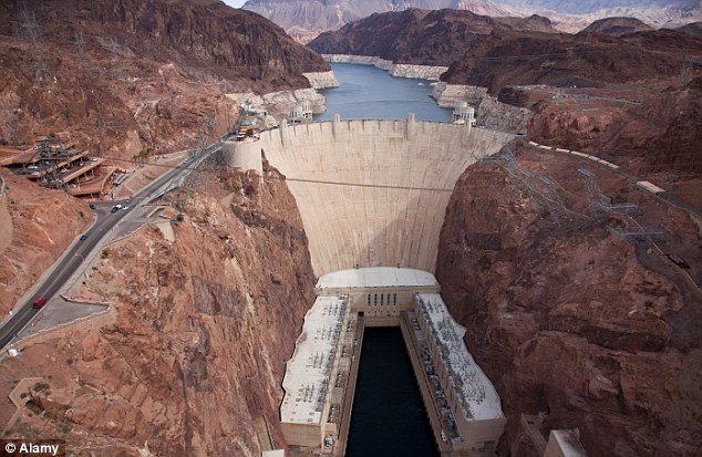 Deadly tour: The helicopter was returning from the Hoover Dam with the pilot and four passengers aboard when it crashed outside of Las Vegas