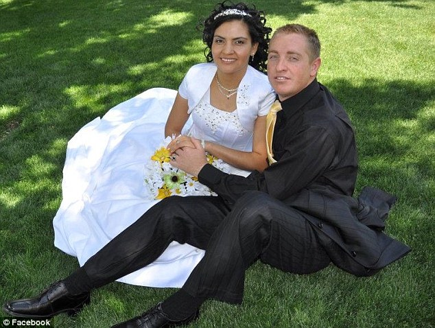 Tragic: Landon Nield, 31, was married to Gabriela Orozco in September and described his wife as 'beautiful and caring'