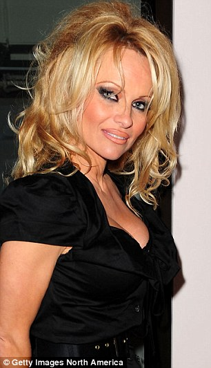 Role models: Growing up, Nicole admired actress Pamela Anderson (left) and always wanted to look like a Barbie doll