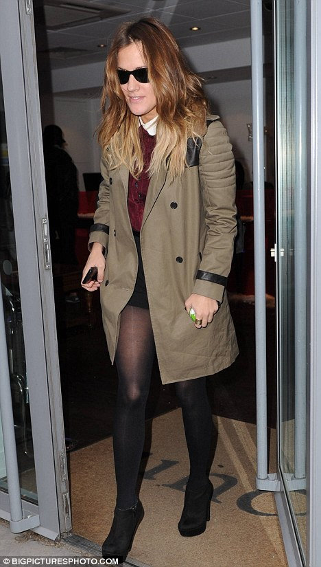 Yesterday: Caroline Flack is spotted leaving a central London office wearing her favourite pair of shorts