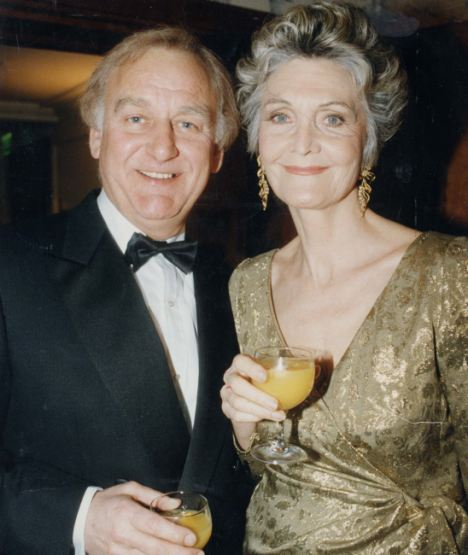 Star couple: John Thaw and wife Sheila Hancock at the BAFTA awards